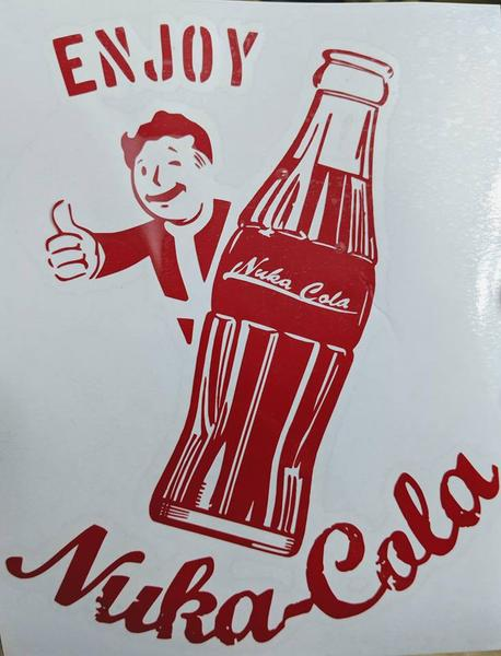 Fallout Nuka-Cola Advertisement with Vault Boy Decal for Car, Yeti, Home, Laptop