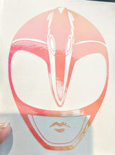 Load image into Gallery viewer, Mighty Morphin Power Rangers Pink Ranger Decal in HOLOGRAPHIC Vinyl!
