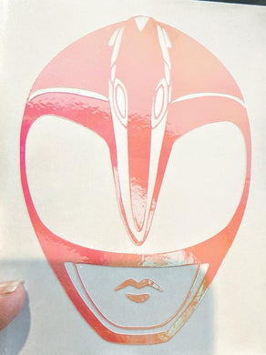 Mighty Morphin Power Rangers Pink Ranger Decal in HOLOGRAPHIC Vinyl!