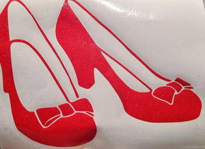 Wizard of Oz Dorothy's Ruby Slippers Vinyl Decal for Car, Home