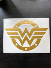 Load image into Gallery viewer, Justice League Superhero Inspired Wonder Woman Logo with Stars Decal
