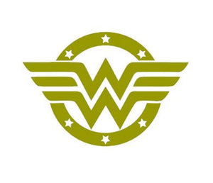 Justice League Superhero Inspired Wonder Woman Logo with Stars Decal