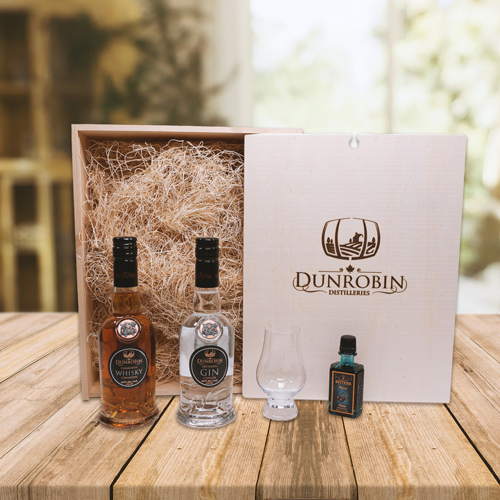 The Pioneer - Whisky & Gin Gift Box - Dunrobin Distilleries