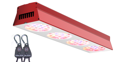 84X-PRO 150W LED Grow Light with Hydro Grow Ratcheting Light Hangers