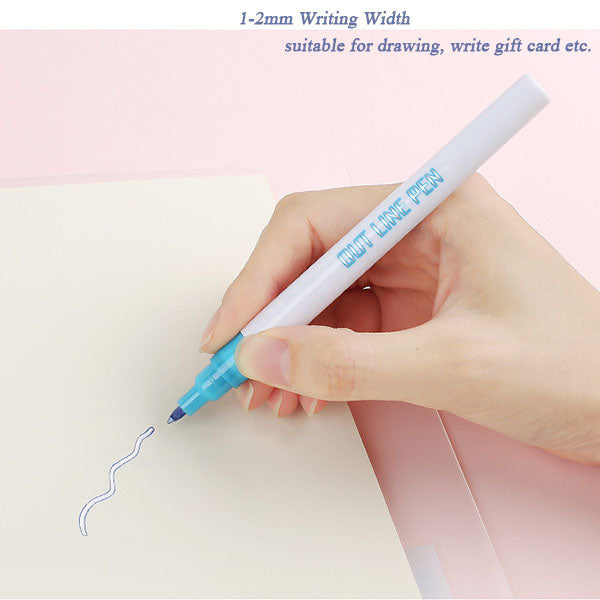 Double Line Outline Pen,For Gift Card Writing & Drawing