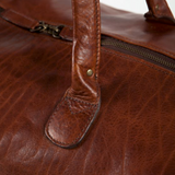 Benedict Weekend Bag Titan Milled Honey Handle Detail
