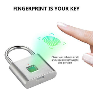Anti-Theft USB Rechargeable Bluetooth Fingerprint Lock