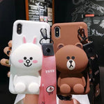 Cartoon Storage Phone Case For iPhone/Samsung (With Lanyard)