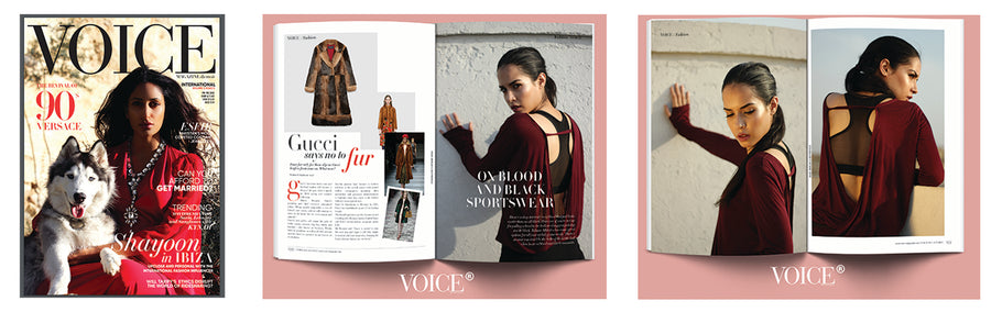 Voice Magazine - Oxblood and Black