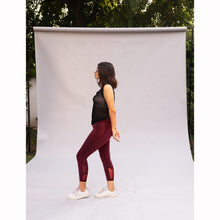 Load image into Gallery viewer, Burgundy super sculpt leggings