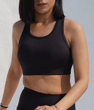 Load image into Gallery viewer, Black power sports bra