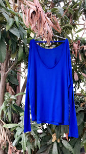 Royal blue low back top