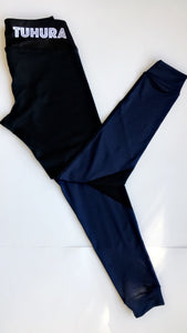Black and navy blue Dri-fit tights