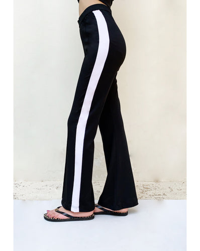Black high-rise pants
