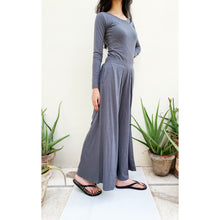 Load image into Gallery viewer, Grey palazzo pants