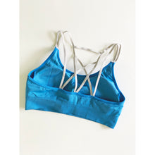 Load image into Gallery viewer, Olympic blue compression sports bra