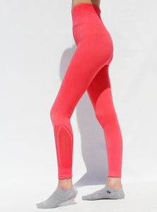 Coral seamless compression tights