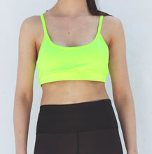 Load image into Gallery viewer, Neon green sports bra