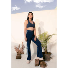Load image into Gallery viewer, Navy blue high-rise pants