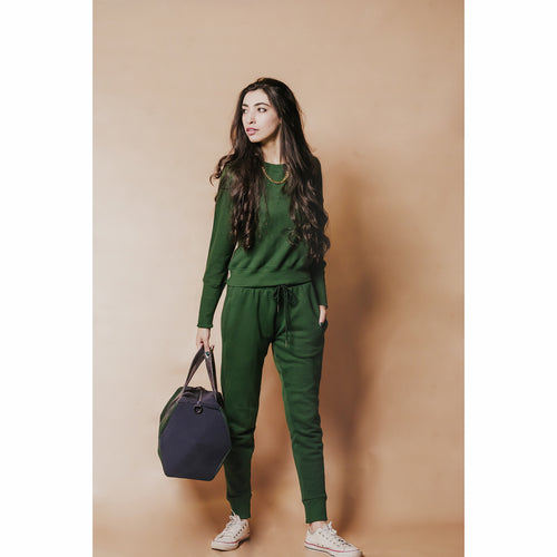 Emerald green tracksuit