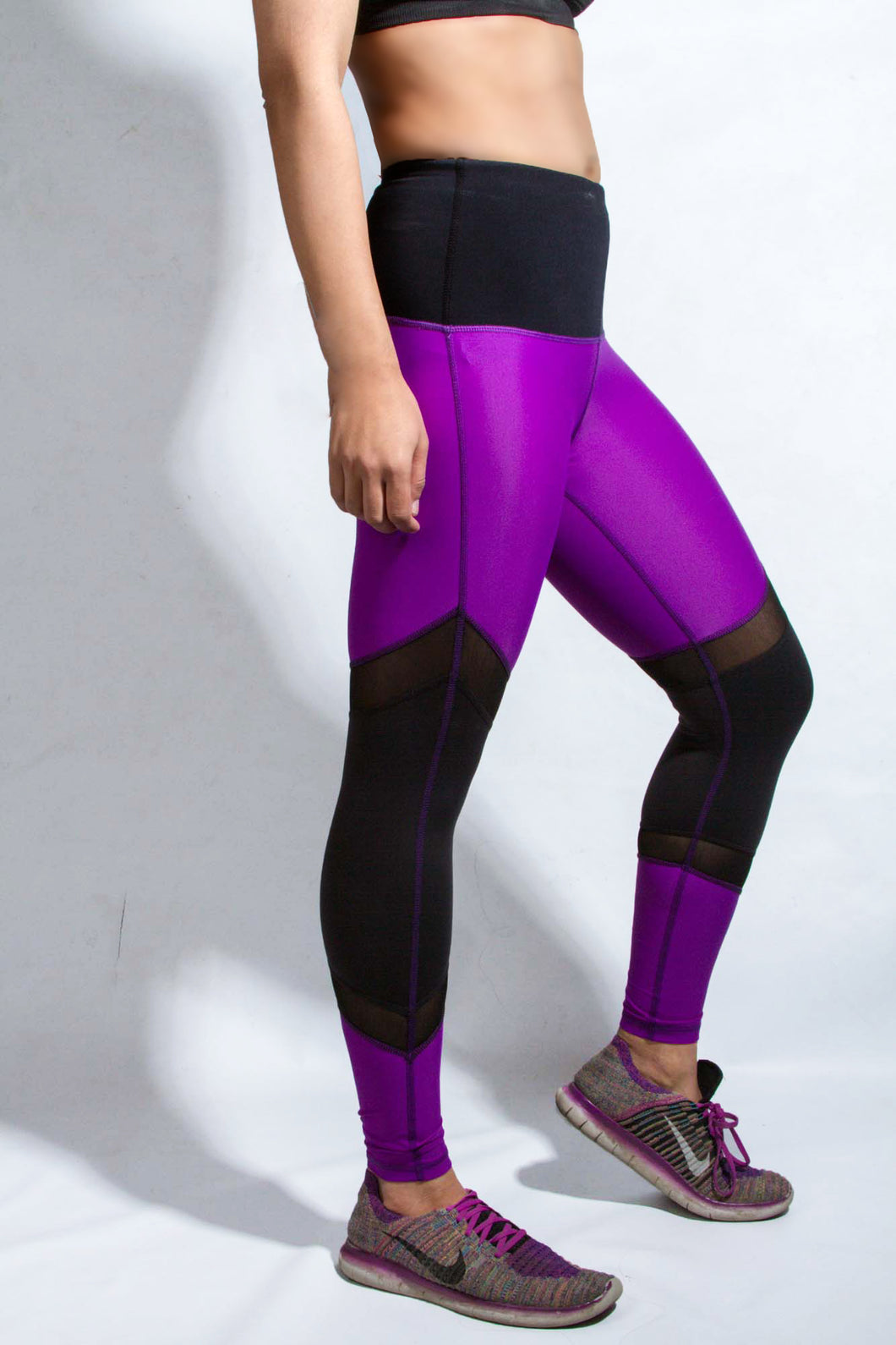 Deep purple compression tights