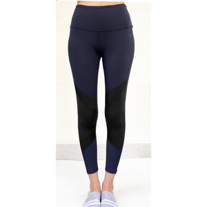Navy leggings with black knee patch