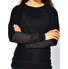 Load image into Gallery viewer, Black mesh sleeves long top