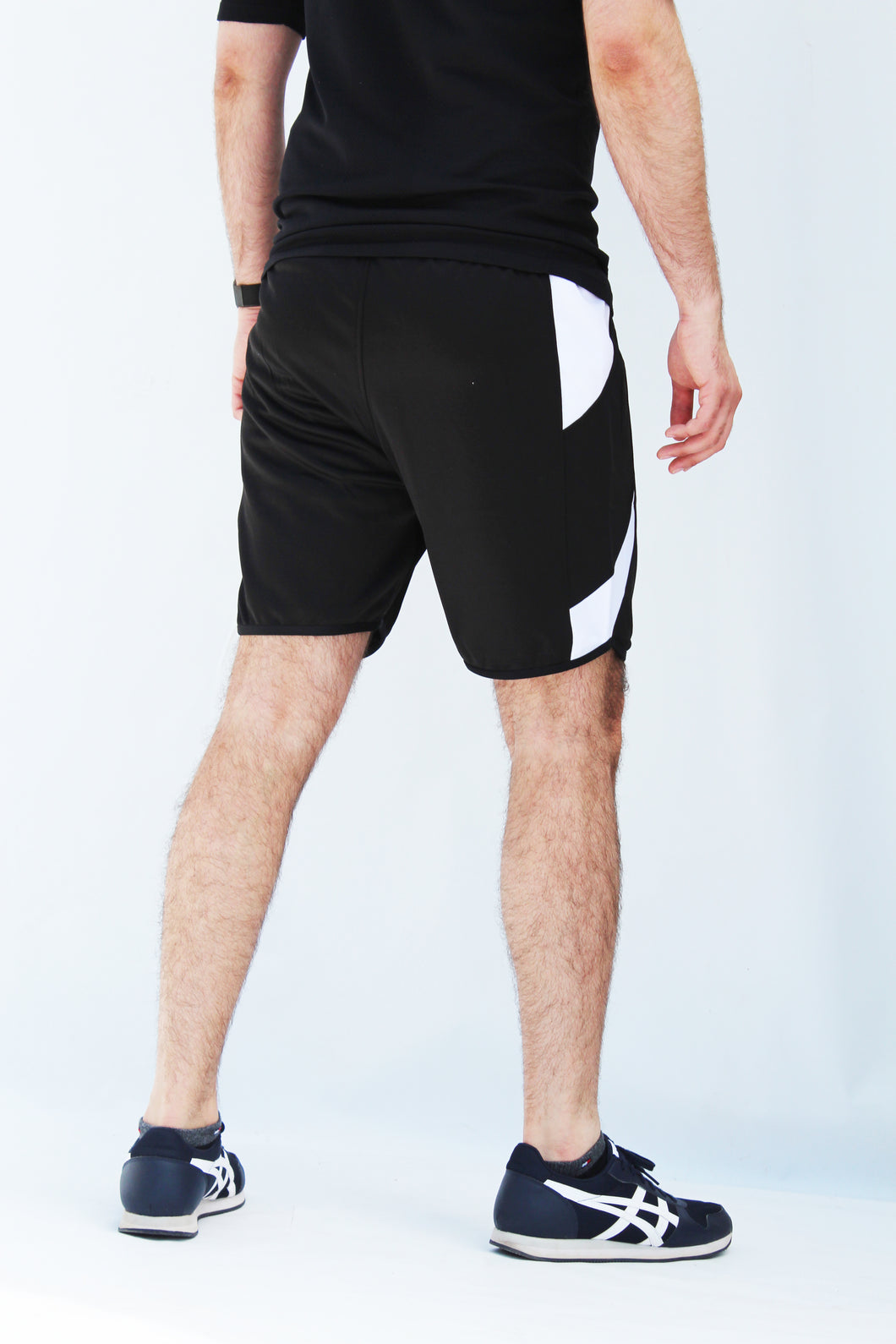 Men's black shorts