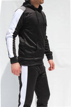 Load image into Gallery viewer, Men's Black tracksuit set