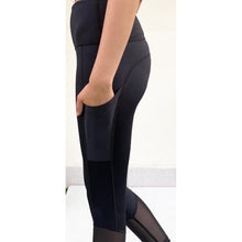 Load image into Gallery viewer, High waisted black mesh tights