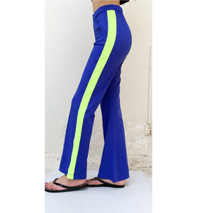 Blue high-rise pants