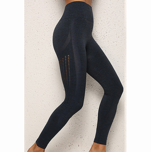 Blue black seamless leggings