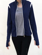Load image into Gallery viewer, Navy dri-fit jacket