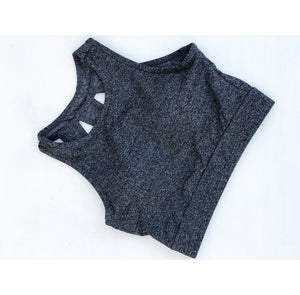 Heather grey cropped top/sports bra