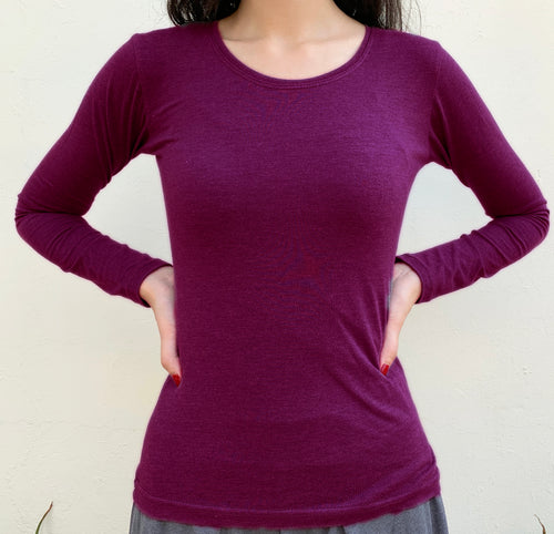 Deep purple full sleeves top