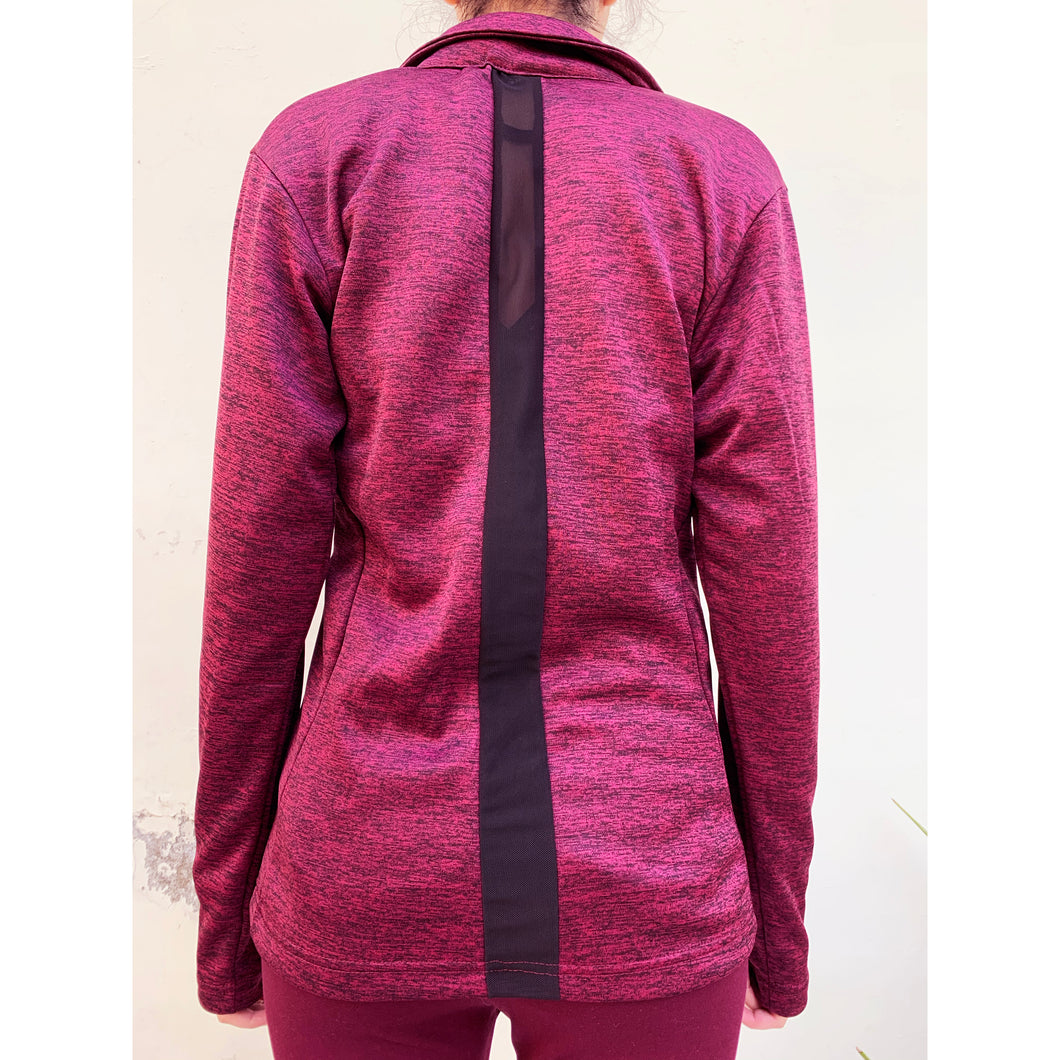 Maroon fleece jacket
