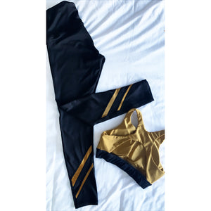 Gold and black leggings