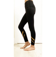 Load image into Gallery viewer, Gold and black leggings
