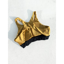 Load image into Gallery viewer, Gold sports bra
