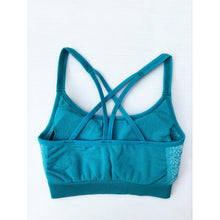 Load image into Gallery viewer, Aqua compression sports bra
