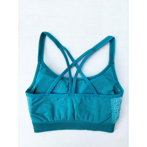 Aqua compression sports bra