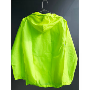 Neon green wind shielder jacket