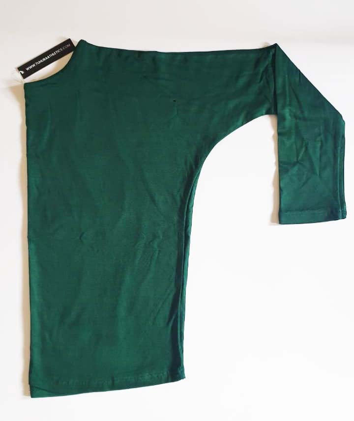 Green full sleeves boat neck top