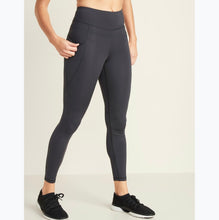 Load image into Gallery viewer, Charcoal grey active wear leggings. Made in Pakistan