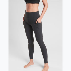 Charcoal side pocket leggings