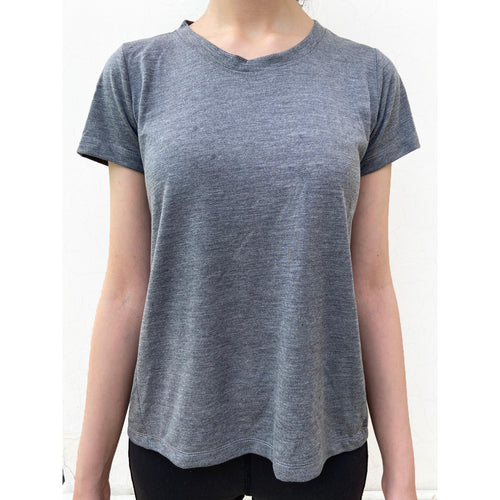Grey half sleeves top