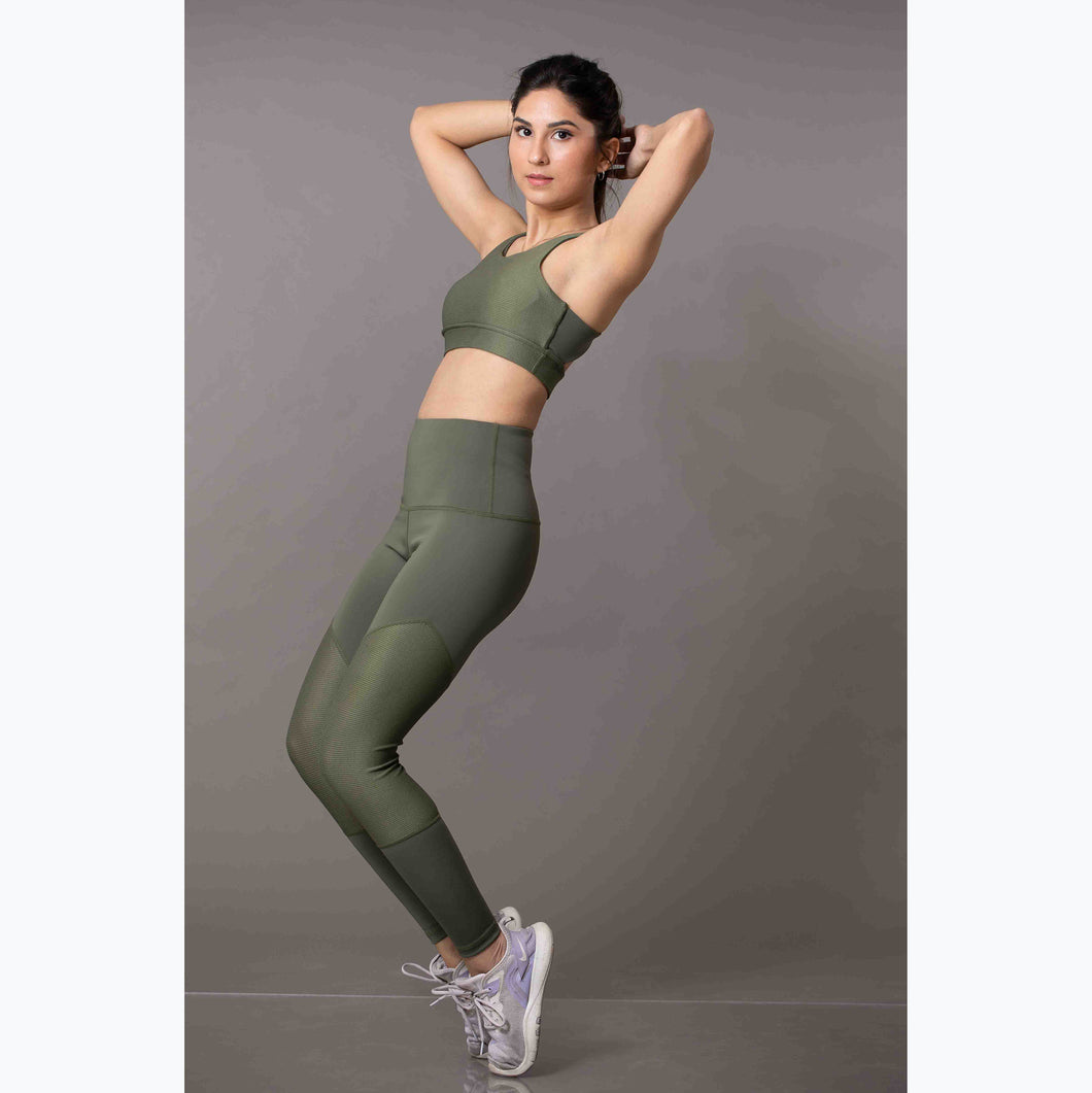 Olive high-rise leggings