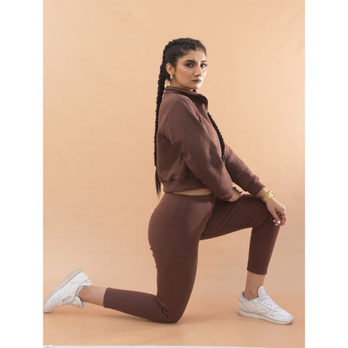 Chocolate brown ribb leggings
