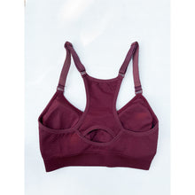 Load image into Gallery viewer, Ox blood compression sports bra