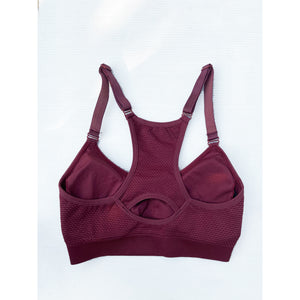 Ox blood compression sports bra